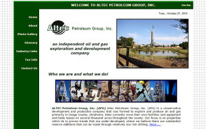 Altec Petroleum Group (Pawhuska, OK) html5-css3 – Since 2009