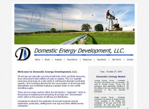 Domestic Energy Development, Inc. (Houston) – Since 2005 html5-css3