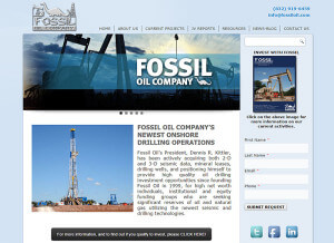 Fossil Oil Company, L.L.C. (Houston) – Since 2001 wordpress cms+html5+css3