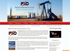 Pogo Exploration Corp. (Midland) wordpress cms+html5+css3