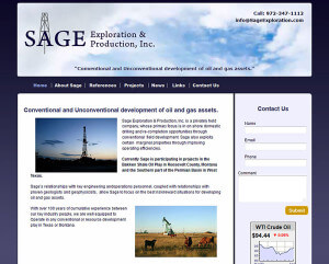 Sage Exploration LLC (Prosper, TX) – Since 2012 html5-css3