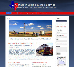 Allstate Plugging  & Well Service. (San Antonio) wordpress-cms